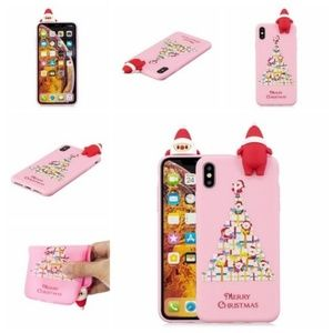 Accessories - NEW iPhone 7/8 Pink 3D Santa Case